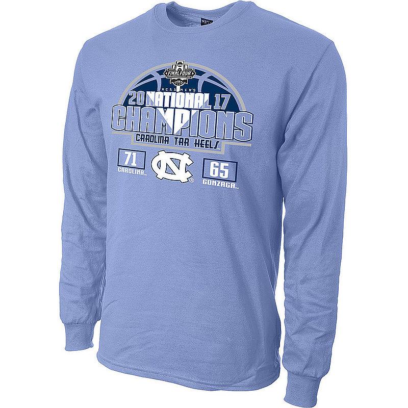b8e6f628dd8 North Carolina Tar Heels 2017 National Basketball Champs Long Sleeve Tshirt  Blue
