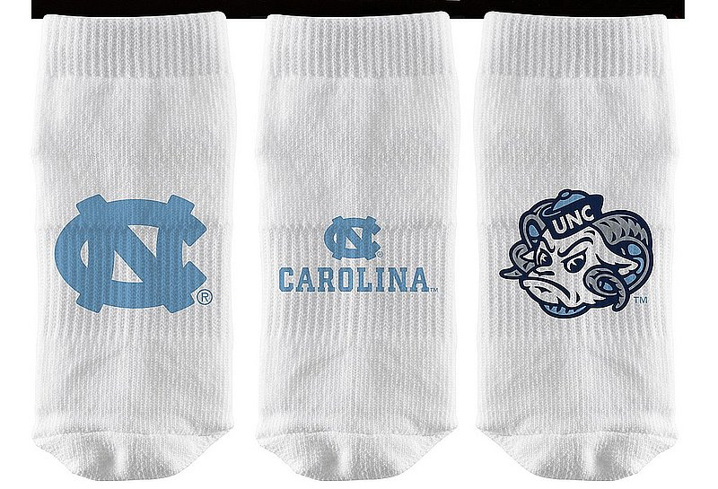 North Carolina Tar Heels Baby Socks 3-Pack