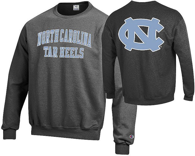 North Carolina Tar Heels Crewneck Sweatshirt Back Charcoal APC03028062/APC03009999