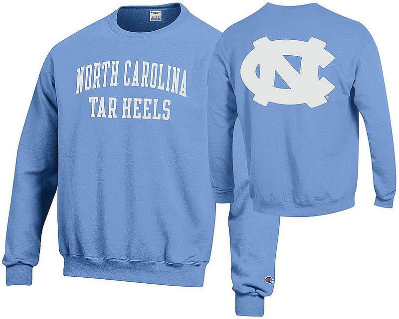 North Carolina Tar Heels Crewneck Sweatshirt Back Light Blue APC03009995/APC03009997