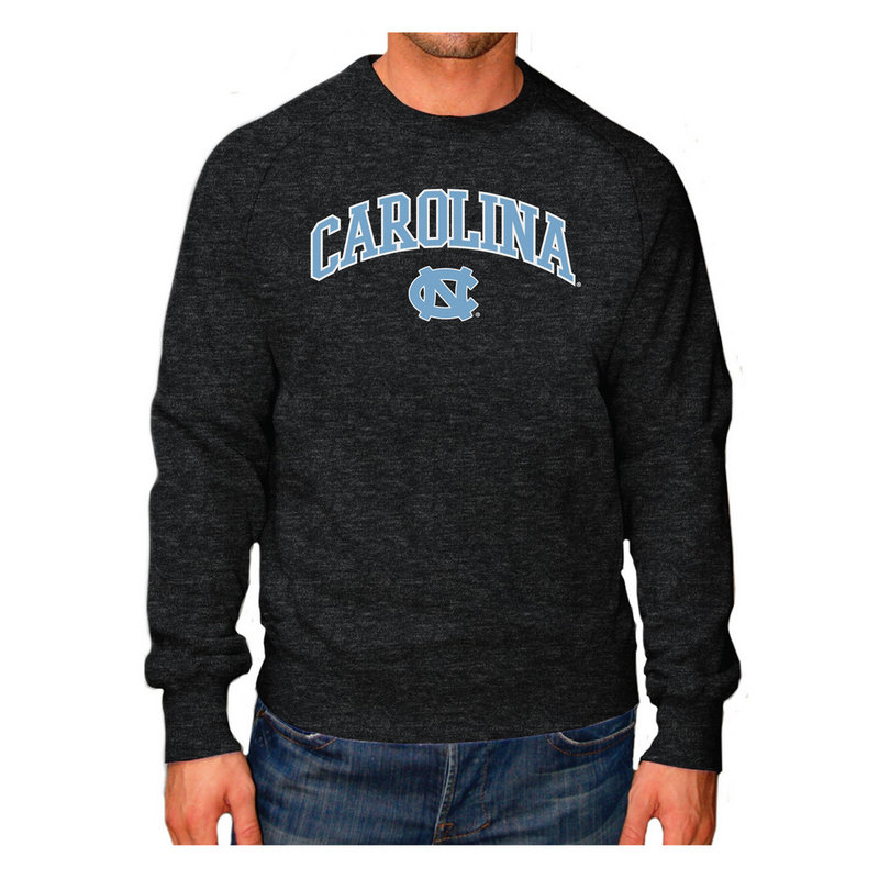 North Carolina Tar Heels Crewneck Sweatshirt Heather Arch Gray NCAV1150B
