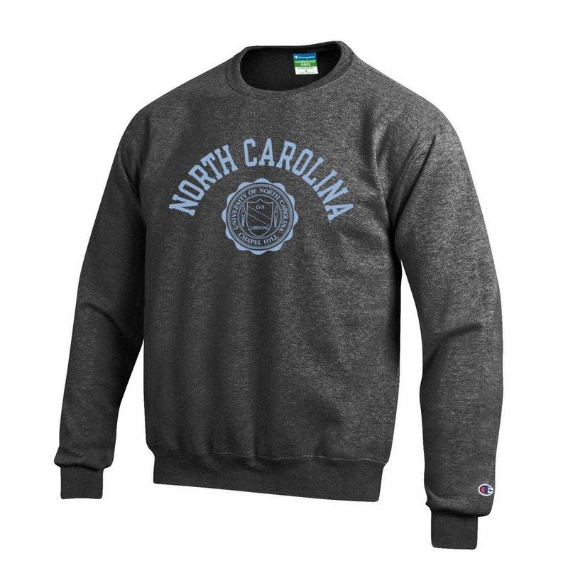 North Carolina Tar Heels Crewneck Sweatshirt Seal Charcoal APC02928123