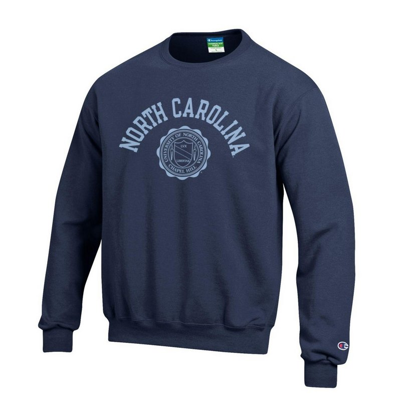 North Carolina Tar Heels Crewneck Sweatshirt Seal Navy APC02928123