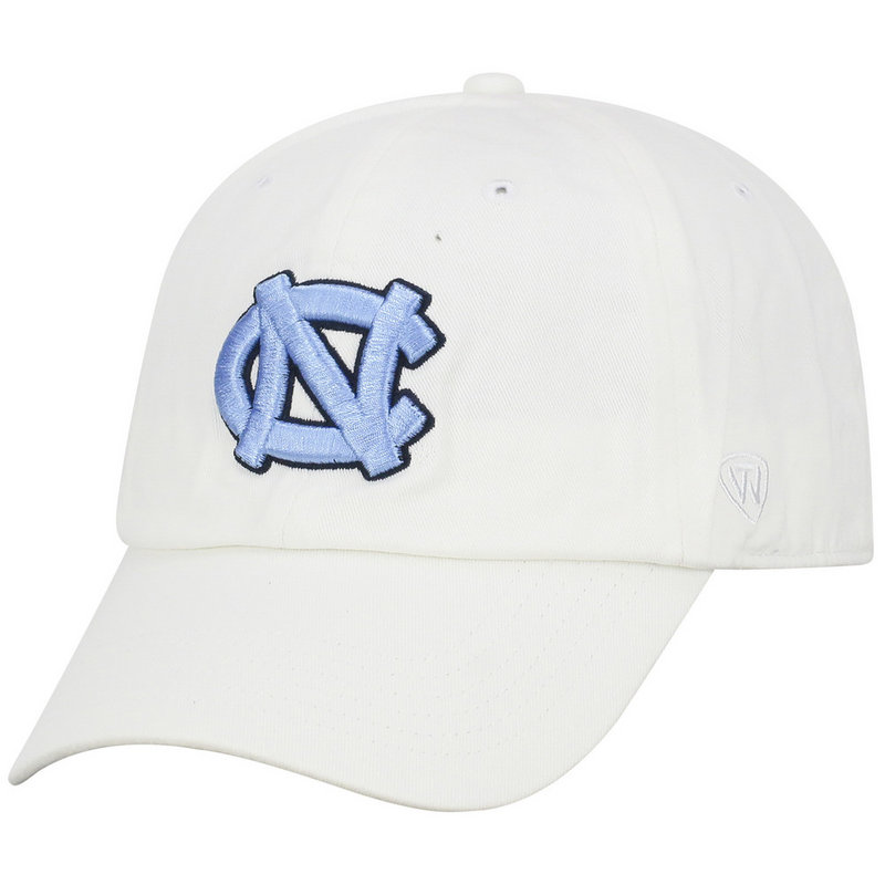 a1780264 North Carolina Tar Heels Hat Icon White CHAMP-NC-ADJ-WHT