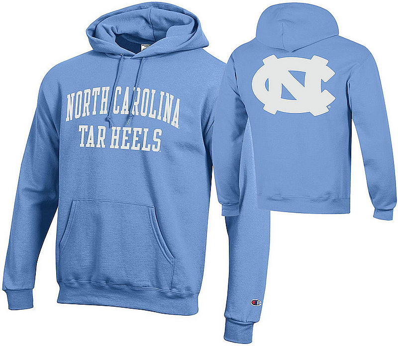 North Carolina Tar Heels Hooded Sweatshirt Back Blue APC03009995/APC03009997