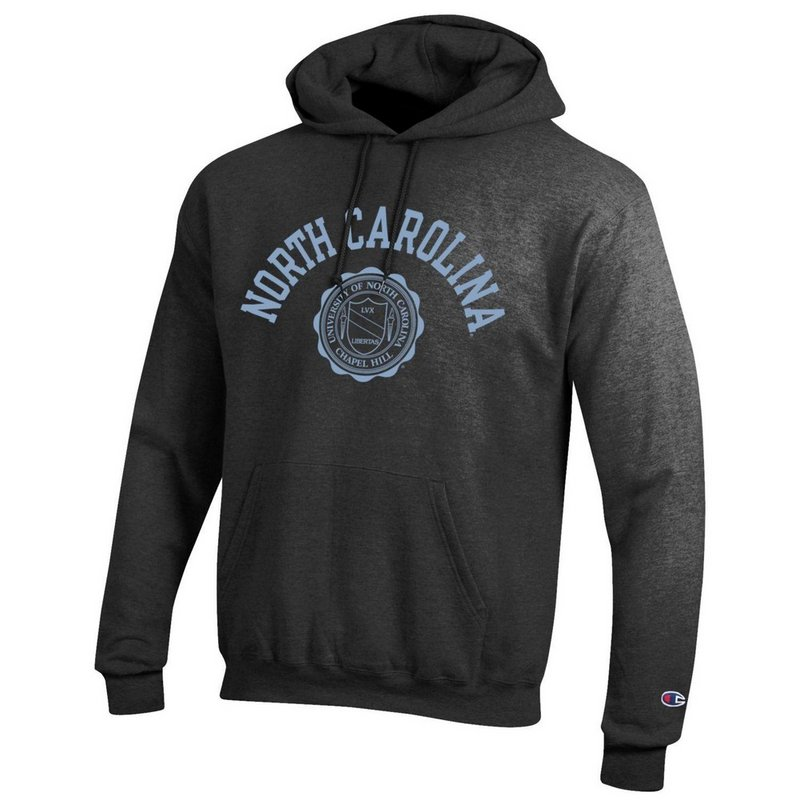 North Carolina Tar Heels Hooded Sweatshirt Seal Charcoal APC02928123