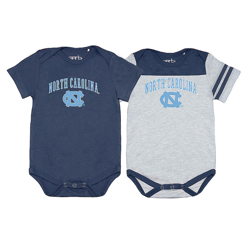 North Carolina Tar Heels Infant Baby Onesie 2 Pack