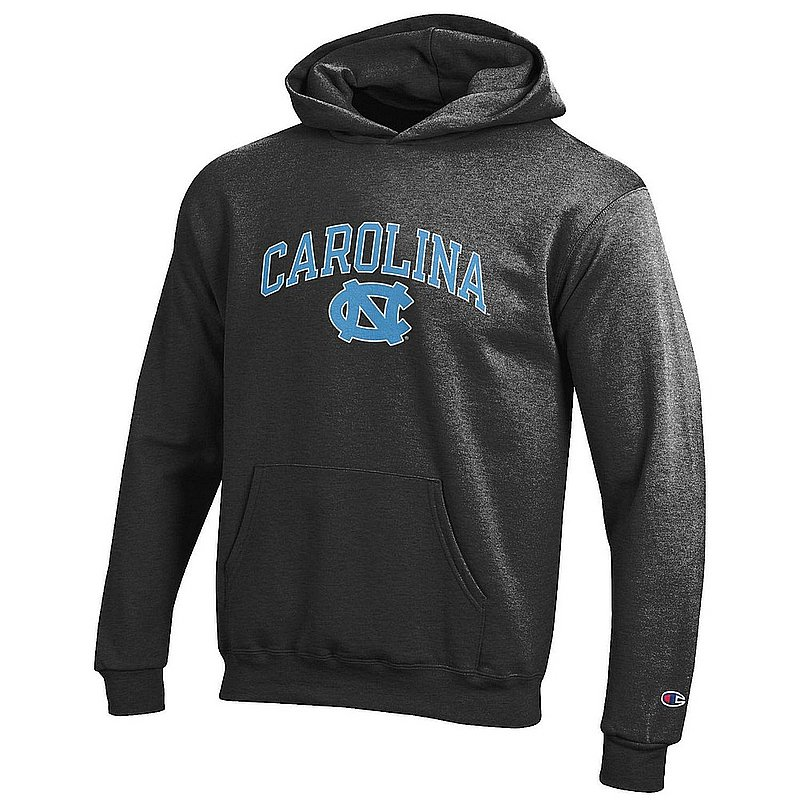North Carolina Tar Heels Kids Hooded Sweatshirt Charcoal APC03020154