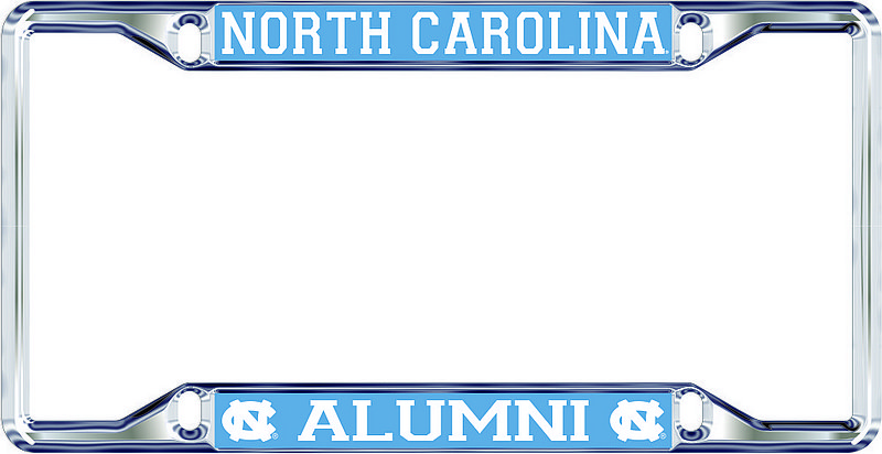 North Carolina Tar Heels License Plate Frame Alumni 30309