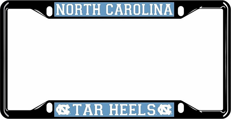 North Carolina Tar Heels License Plate Frame Black 30308