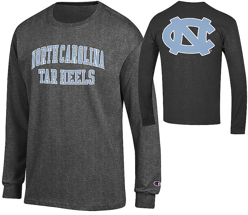 North Carolina Tar Heels Long Sleeve Back Charcoal Tshirt APC03028062/APC03009999 ( )