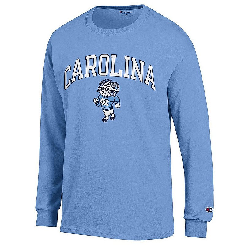 North Carolina Tar Heels Long Sleeve Tshirt Icon Blue