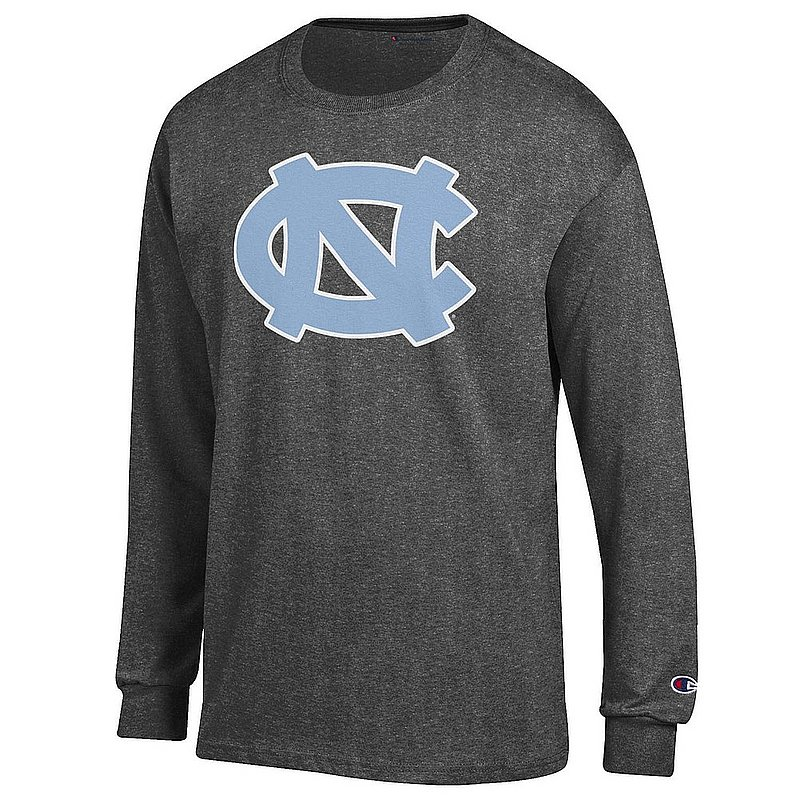 North Carolina Tar Heels Long Sleeve Tshirt Icon Charcoal APC03277034