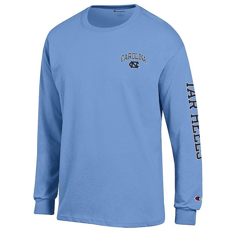 North Carolina Tar Heels Long Sleeve TShirt Letterman Blue APC02954288/APC02954290