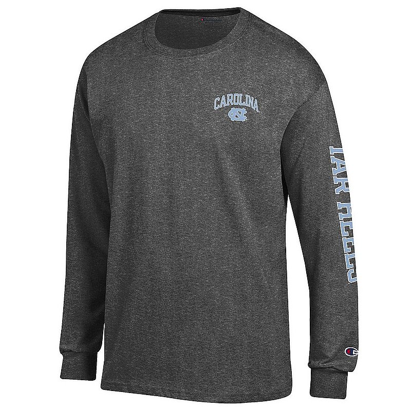 North Carolina Tar Heels Long Sleeve TShirt Letterman Charcoal APC02954288/APC02954290