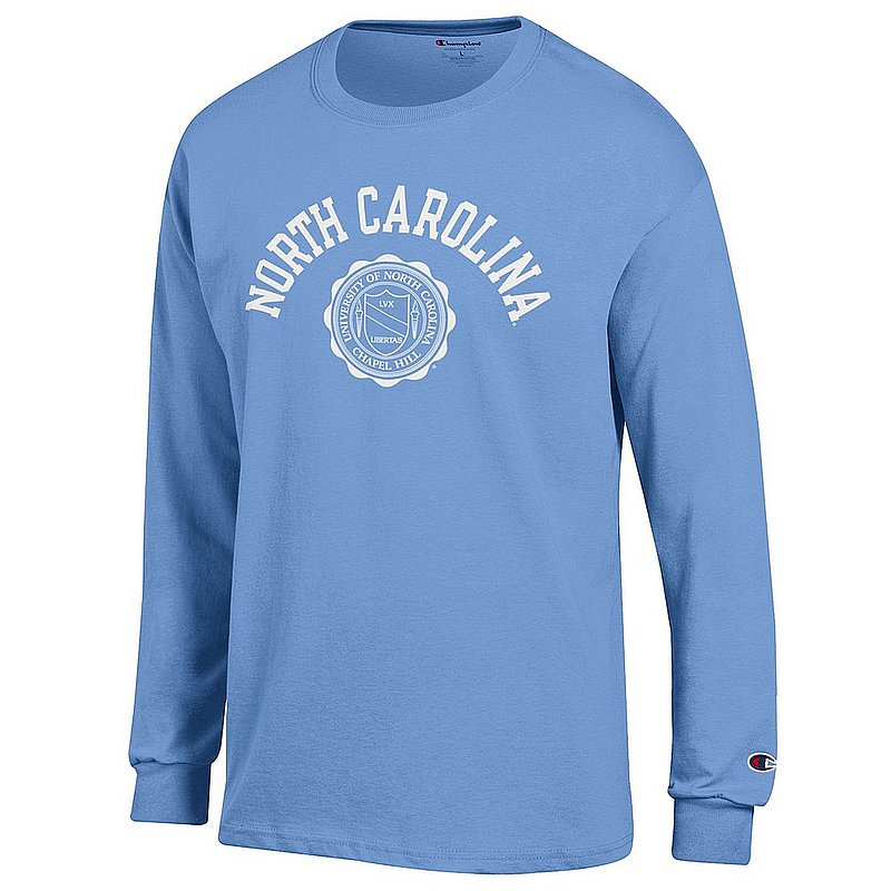 North Carolina Tar Heels Long Sleeve TShirt Seal Blue APC02928123