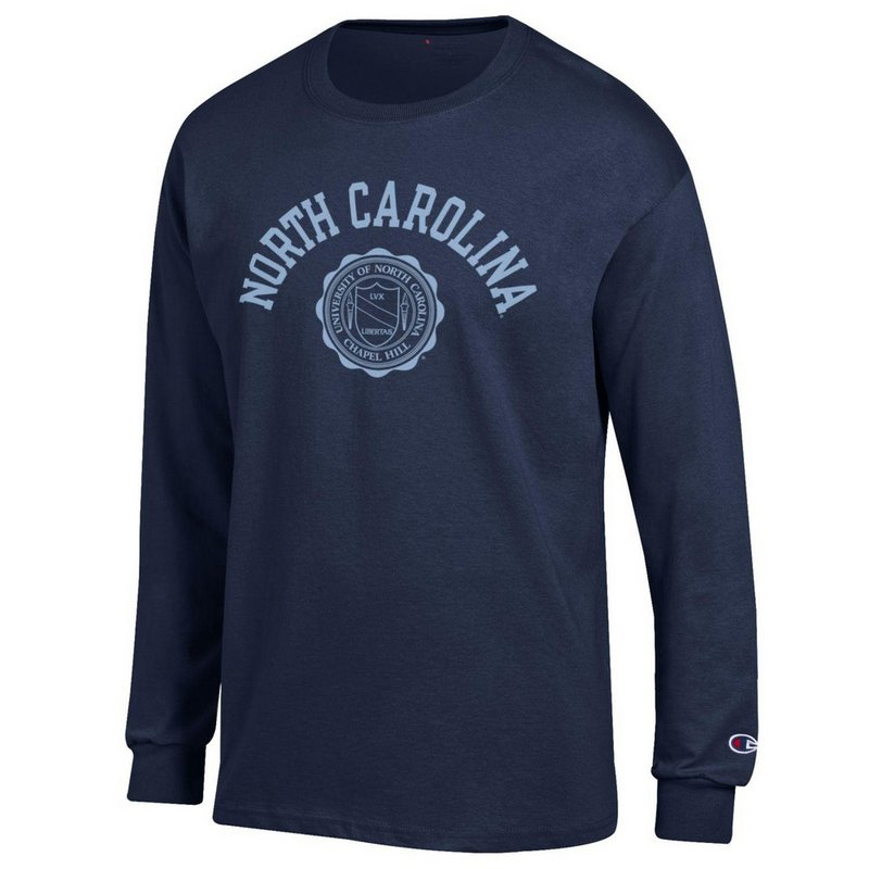 North Carolina Tar Heels Long Sleeve Tshirt Seal Navy APC02928123