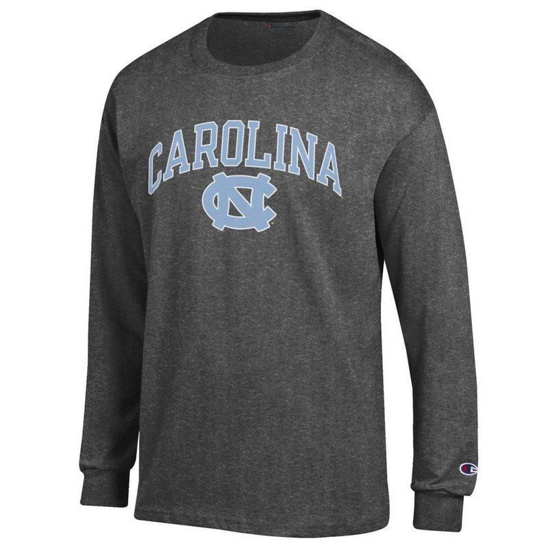 North Carolina Tar Heels Long Sleeve Tshirt Varsity Charcoal APC02879935