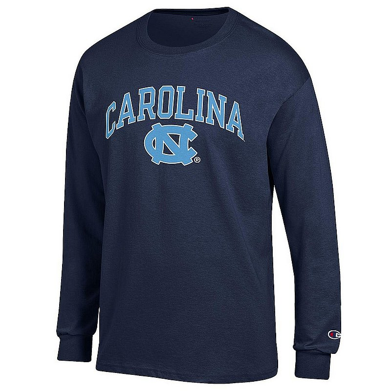 North Carolina Tar Heels Long Sleeve TShirt Varsity Navy APC03007051