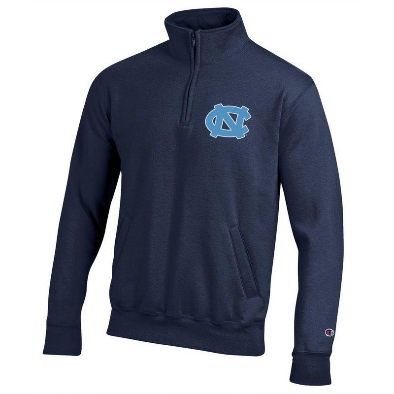 North Carolina Tar Heels Quarter Zip Sweatshirt Captain Blue APC03197484