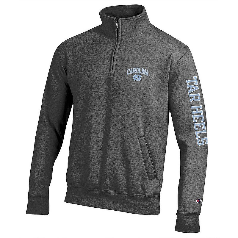 North Carolina Tar Heels Quarter Zip Sweatshirt Letterman Charcoal APC02954288/APC02954290