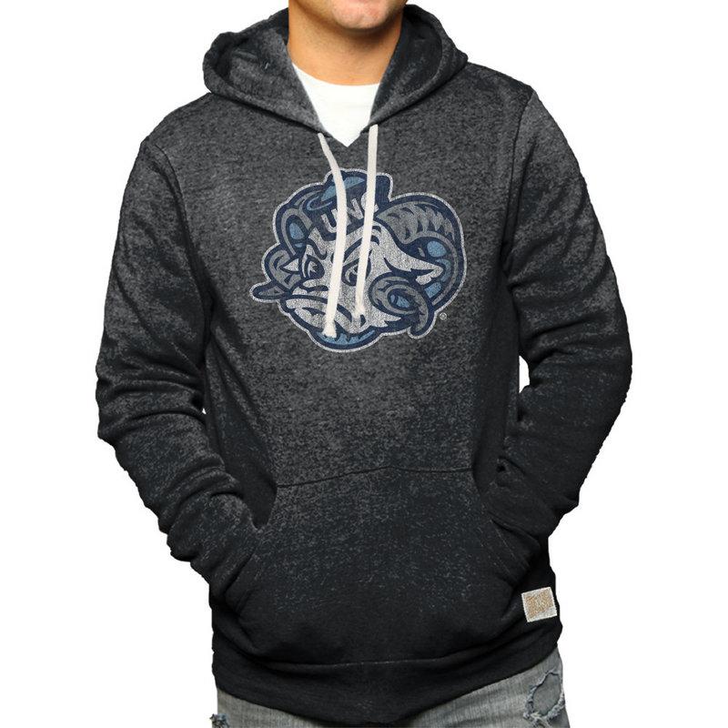 North Carolina Tar Heels Retro Hoodie Sweatshirt Charcoal NCA005S2A_BKF