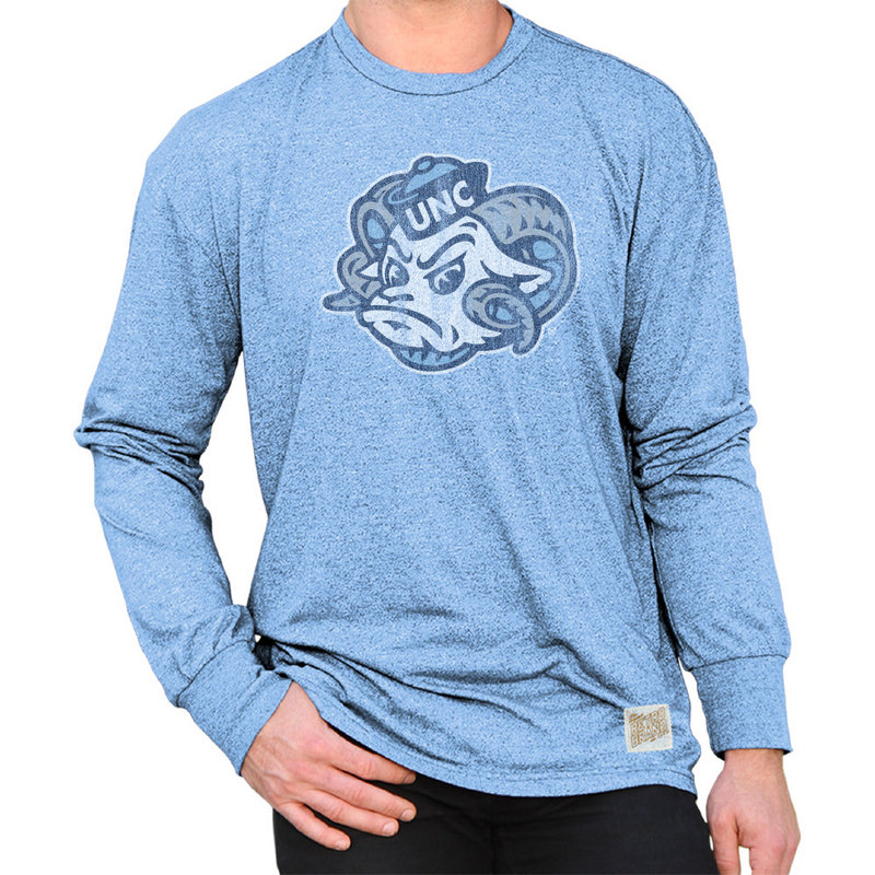 North Carolina Tar Heels Retro Long Sleeve TShirt Blue NCA005S2A_MTCB