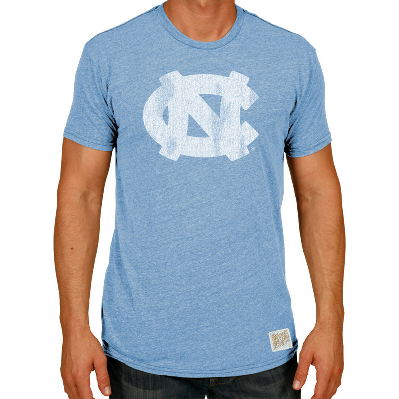 North Carolina Tar Heels Retro TriBlend Tshirt Blue CNCA027A