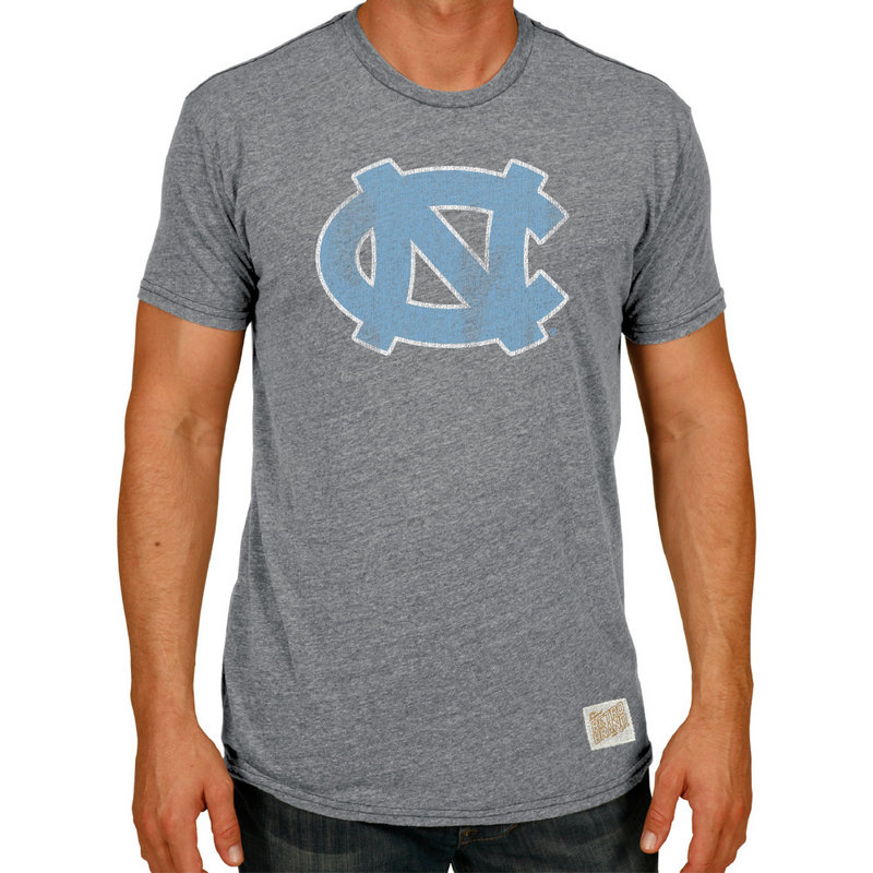 North Carolina Tar Heels Retro TriBlend Tshirt Gray CNCA047B