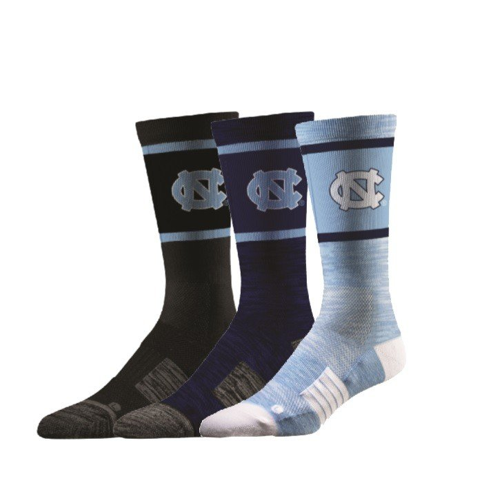 North Carolina Tar Heels Socks 3-Pack