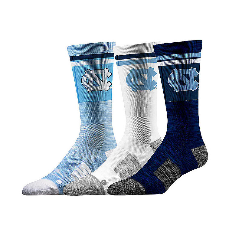 North Carolina Tar Heels Socks 3-Pack Retro Stripe
