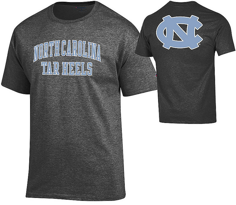 North Carolina Tar Heels Tee Shirt Back Charcoal APC03028062/APC03009999