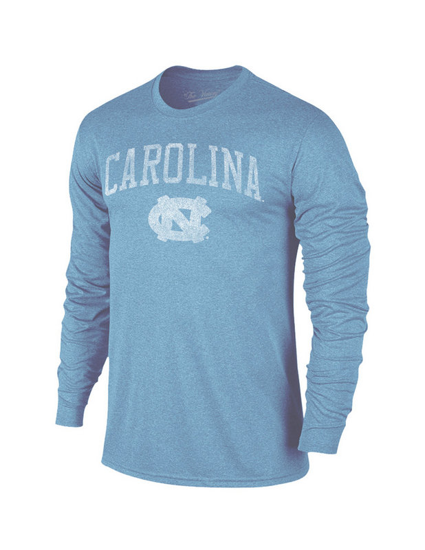 North Carolina Tar Heels Vintage Long Sleeve Tshirt Blue Victory TV402_NCAV1412A_HCB