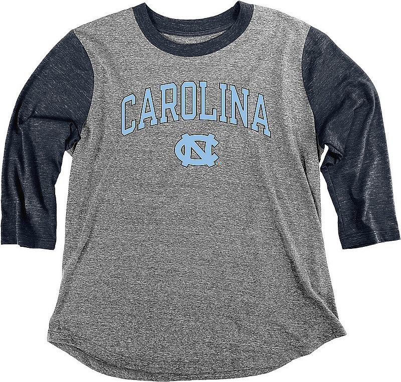 North Carolina Tar Heels Womens 3/4th Sleeve Tshirt P-PG3678UNC4 JTYK