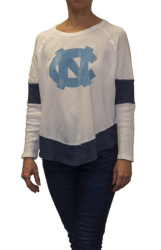 North Carolina Tar Heels Womens Thermal Long Sleeve Shirt CNCA027R_RB1906M_STN