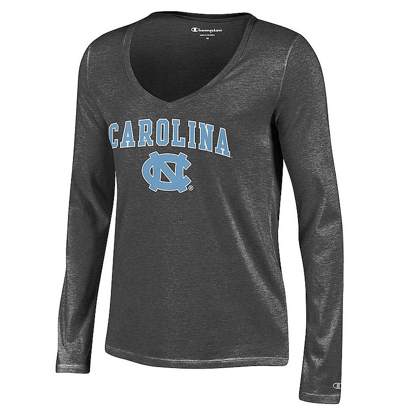 b6dfcda1a North Carolina Tar Heels Womens VNeck Long Sleeve TShirt Charcoal  APC03051430