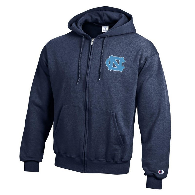 North Carolina Tar Heels Zip Up Hoodie Sweatshirt Captain Blue APC03197484