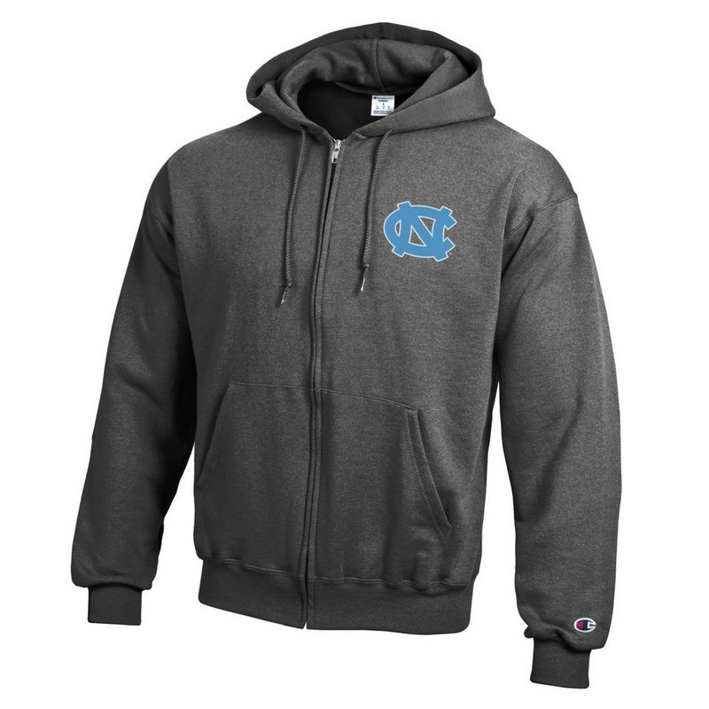North Carolina Tar Heels Zip Up Hoodie Sweatshirt Captain Gray APC03197484