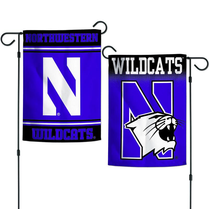 """Northwestern Wildcats 12.5""""x18"""" Garden Flag"""