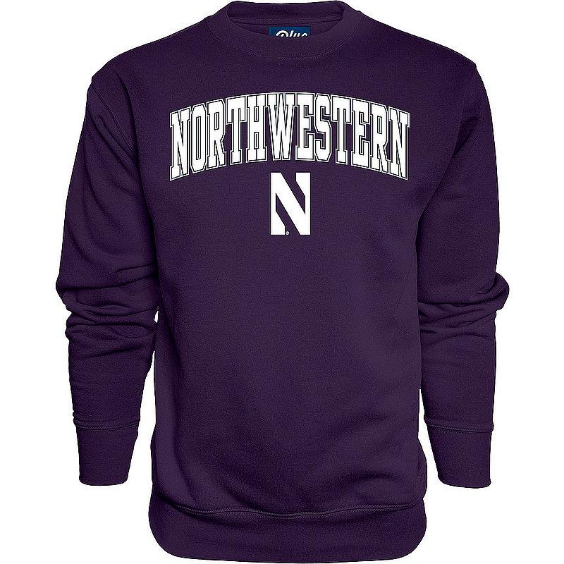 Northwestern Wildcats Crewneck Sweatshirt Varsity Purple Arch Over APC02974293*/00000000BMR6F