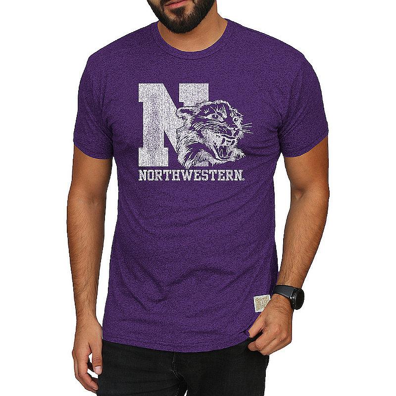 Northwestern Wildcats Retro TShirt Purple CNWU100A_RB124M_MTPU