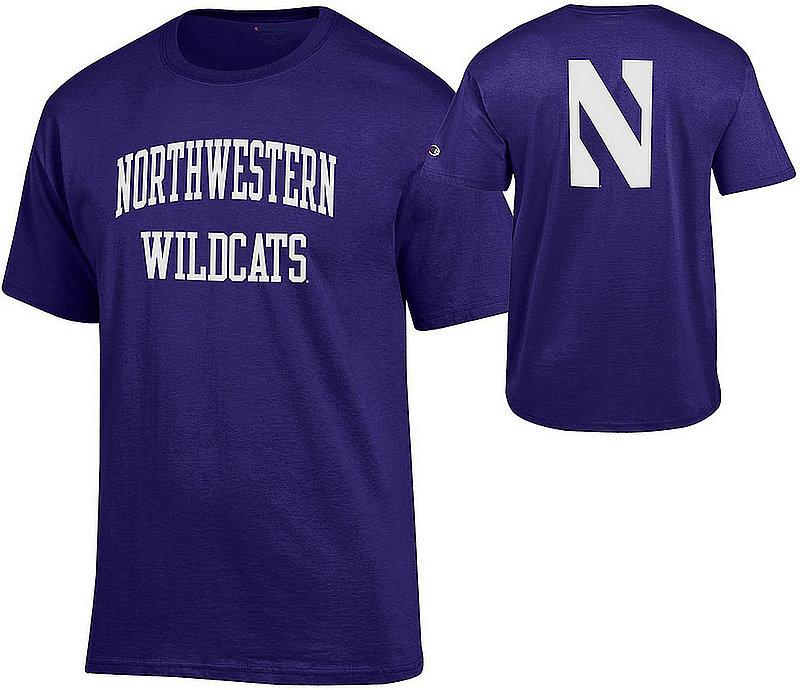 Northwestern Wildcats TShirt Back Purple APC03009481/APC03009483