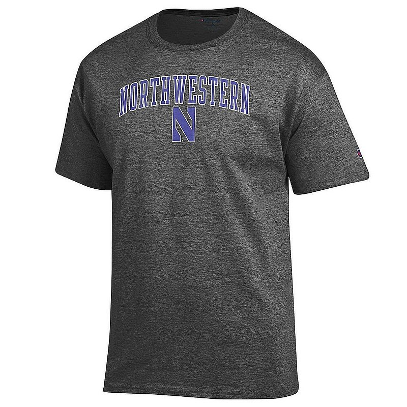 Northwestern Wildcats TShirt Varsity Charcoal Arch Over APC02964266*