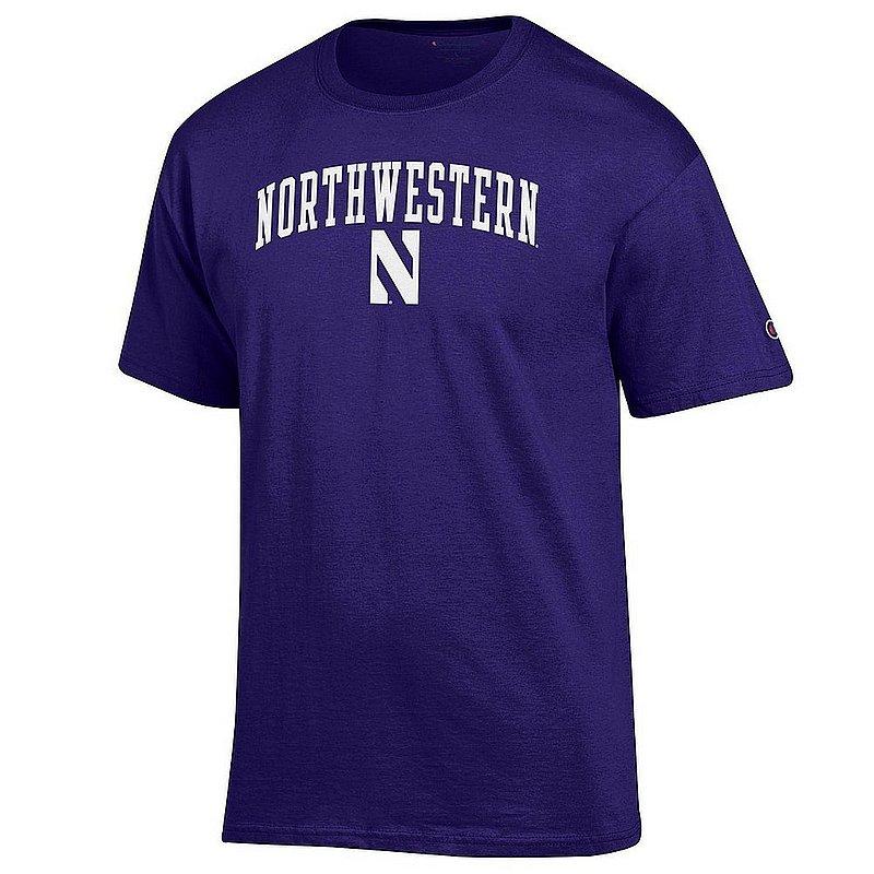 Northwestern Wildcats TShirt Varsity Purple Arch Over APC02974293*