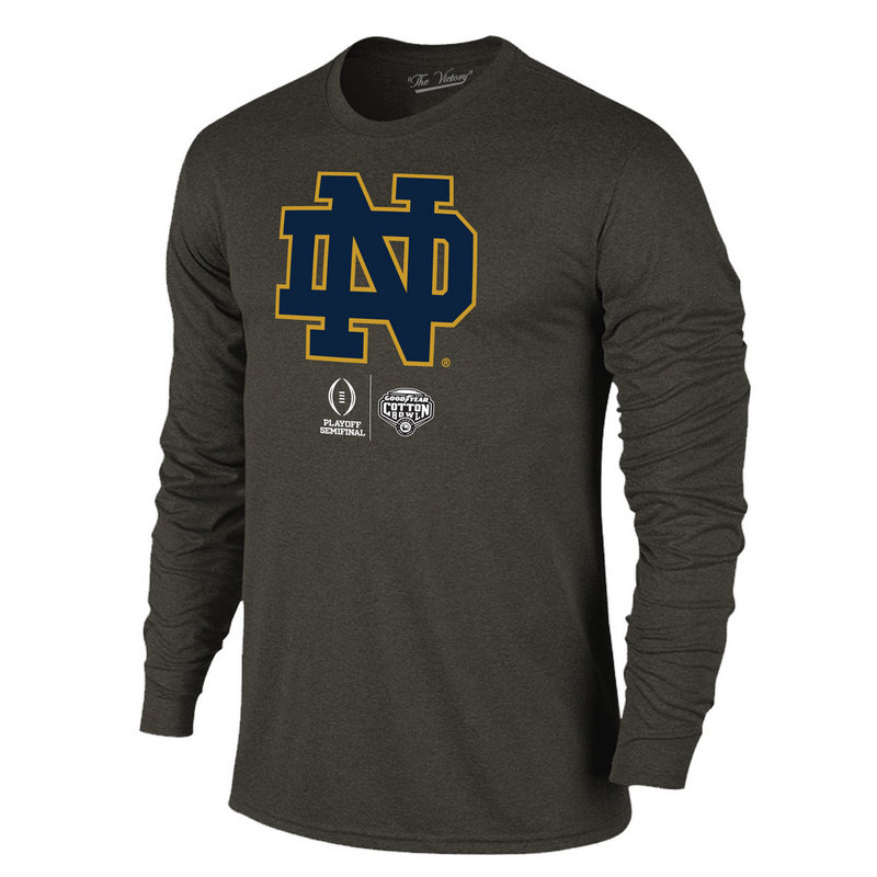 b515c1de9 Notre Dame Fighting Irish Cotton Bowl Long Sleeve Tshirt 2018 Icon Charcoal