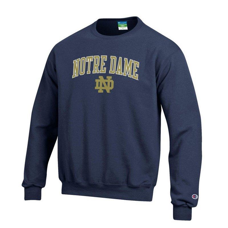 Notre Dame Fighting Irish Crewneck Sweatshirt Arch Navy APC02824663