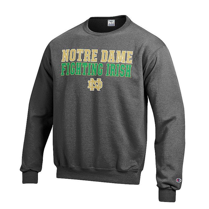 Notre Dame Fighting Irish Crewneck Sweatshirt Charcoal APC02019609