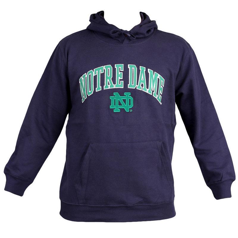Notre Dame Fighting Irish Fleece Hoodie Sweatshirt Navy 405IC Notre Dame