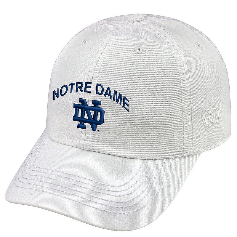 Notre Dame Fighting Irish Hat Arch White CHAMP-NTRDM-ADJ-WHT1