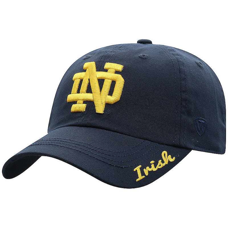 Notre Dame Fighting Irish Hat Navy Courtney STPL3-NTRDM-ADW-TMC1